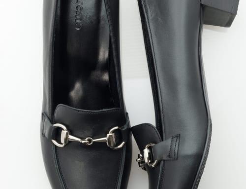 3.5cm Heel カーフ・ブラック・スタック・ブラック