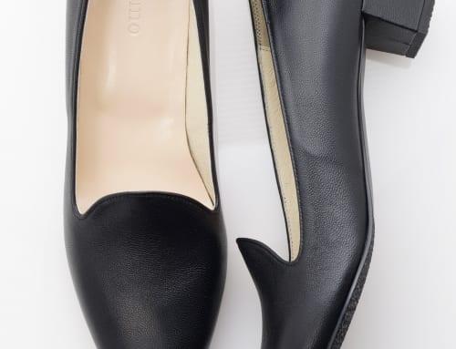 3.5cm Heel ラム・ブラック