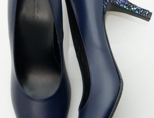 7.5cm Heel カーフスキン・インディゴブルー・グリッター・カラフルネイビー