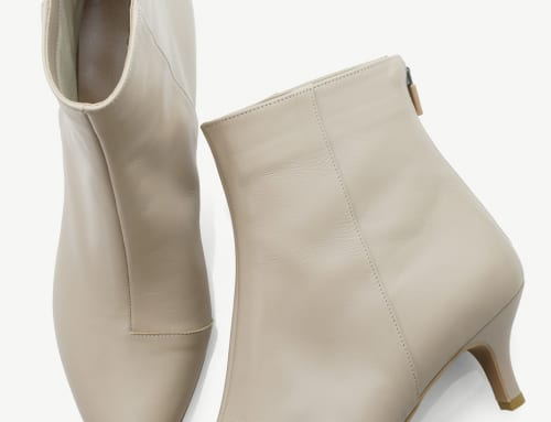 5.5cm Heel ブーツ カーフスキン・グレージュ