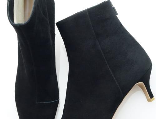 5.5cm Heel ブーツ スエード・ブラック