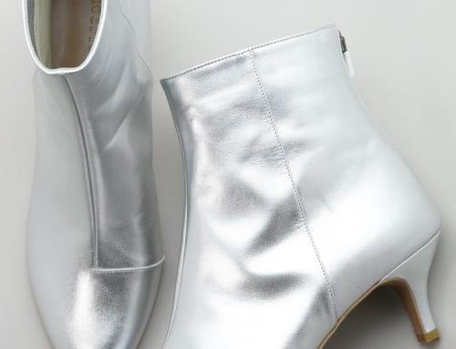 5.5cm Heel ブーツ カーフスキン・シルバー